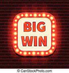 Big Win retro banner template