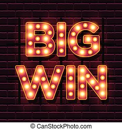 Big Win retro banner template