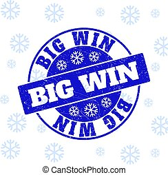 Big Win Scratched Round Stamp Seal for Xmas