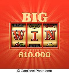 Big Win slot machine casino banner