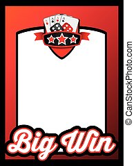 big win themed poster or advert template