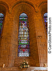 Big window in a small Scottish cathedral