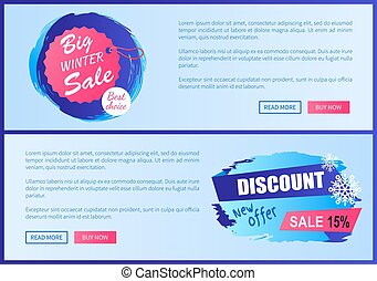 Big Winter Sale Best Choice Vector Illustration