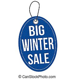 Big winter sale label or price tag