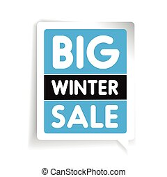 Big winter sale vector