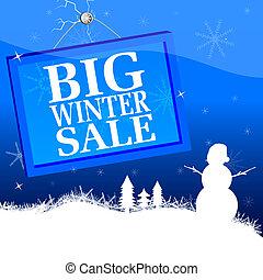 big winter sale vector illustration