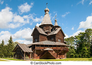 Big wooden church