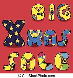 Big Xmas sale. Card for retail - Insctription Big Xmas Sale....