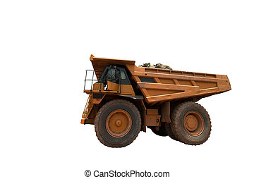 big yellow mining truck