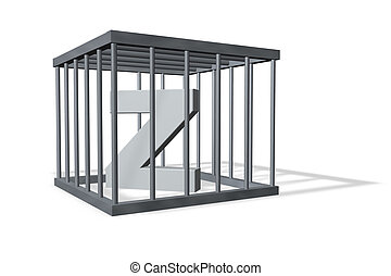 big Z in a cage