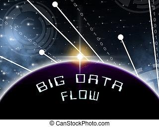 bigdata, ρέω , ρυάκι , από , μεγάλος , δεδομένα , 3d , εικόνα