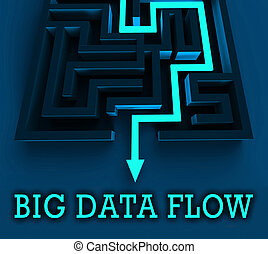 Bigdata Flow Stream Of Big Data 3d Illustration