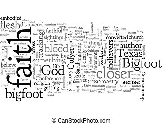 bigfoot, 概念, evangelism, 背景, wordcloud, テキスト