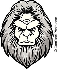 Bigfoot Head Illustration