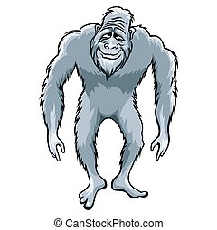 Bigfoot illustration - Bigfoot or Sasquatch vector ...