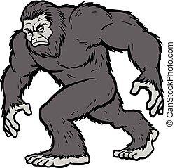 Bigfoot Mascot Illustration