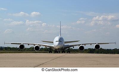 Biggest airplane Airbus ?-380. Russia