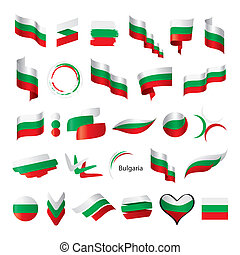 biggest collection of vector flag of Bulgaria