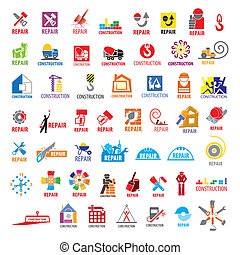 biggest collection of vector logos construction and repair