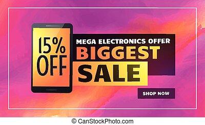 biggest electronics sale banner poster flyer template