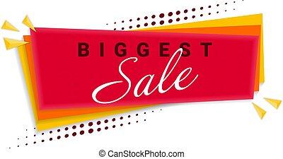 Biggest Sale Banner Template Design. Vector Illustration.