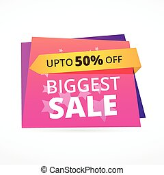 biggest sale discount colorful vector banner