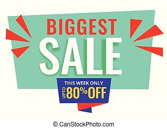biggest sale promotional banner design