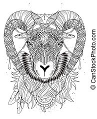 bighorn goat coloring page