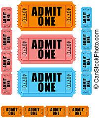 biglietti, 1, ammettere
