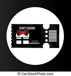 biglietti, disegno, cinema