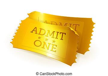 biglietti, dorato