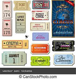 biglietti, vettore