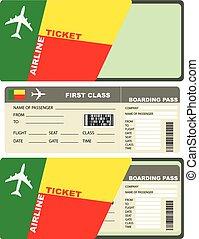 biglietti, volo, benin