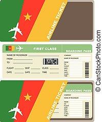 biglietto, aereo, camerun, classe, primo