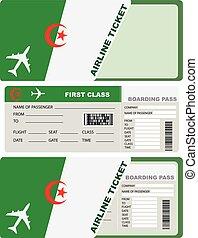 biglietto, aereo, classe, algeria, primo