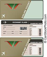 biglietto, aereo, dominica