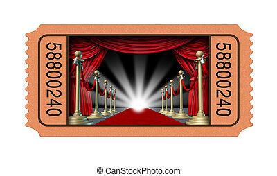 biglietto, cinema