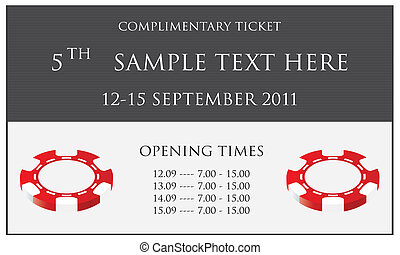 biglietto, isolato, evento