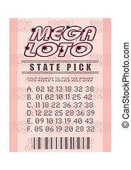 biglietto, lotteria