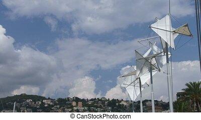 Bigo structure in the port of Genoa