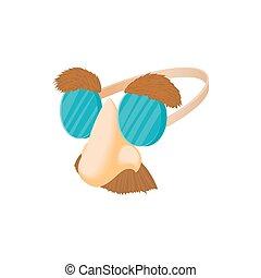 bigode, óculos, nariz, fraude, comédia, sobrancelhas, ícone