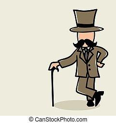 bigode, homem