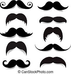 bigote, grande, conjunto