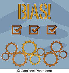 bigotry., εδάφιο , εκδήλωση , άδικος , bias., σήμα , subjective, ανισότης , preconception, φωτογραφία , σχετικός με την σύλληψη ή αντίληψη , onesidedness