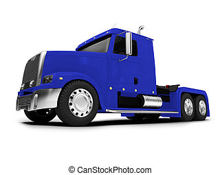 Bigtruck isolated blue front view