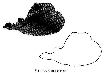 (bih, fbih), bosnia, garabato, cantón, ilustración, vector, ...