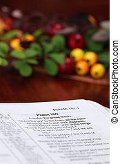 bijbel, dankzegging