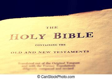 bijbel, oud, heilig
