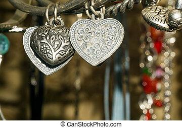 Bijouterie - Close up of various bijouterie, jewellery ...