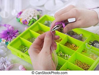 (bijouterie)., fabbricazione, process., gioielliere, ...